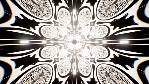 Glowing Religious Symbol Tunnel 4K
