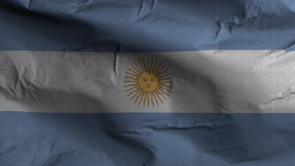Argentina Flag Textured Waving Background 4K