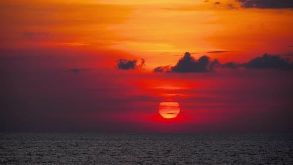 Thumbnail for Red Sunset Over Ocean