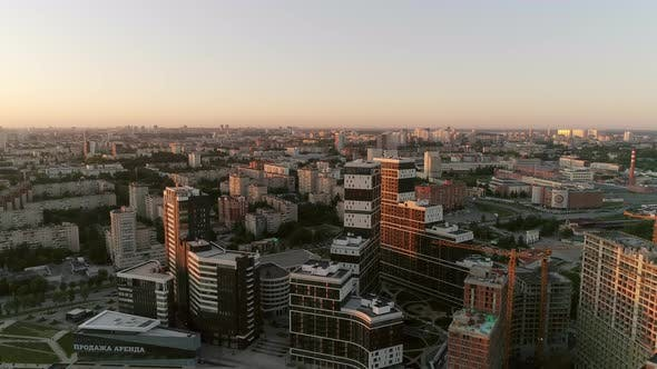 Aerial view of Multi-storey buildings in the city 23