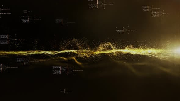 Futuristic Flowing Particles Wave 03