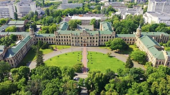 Thumbnail for Flying Over the Igor Sikorsky Kiev Polytechnic Institute (KPI). Aerial Footage