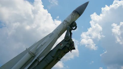Missile As an Object at the Exhibition in Openair Museum