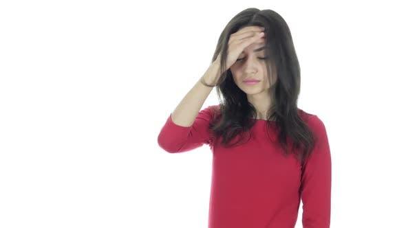 Thumbnail for Headache, Frustration, Tense Beautiful Brunette Woman