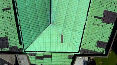 Irish church rooftop