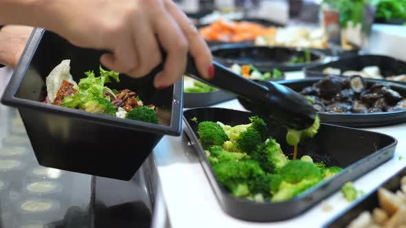 Thumbnail for Close Up Of Salad Bar In Supermarket