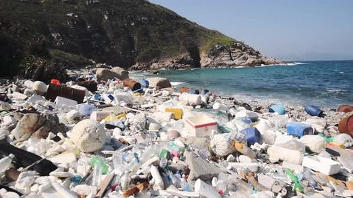 Environmental destruction from plastic waste causes climate change, pollution and climate change, an
