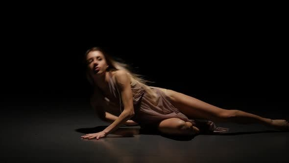 Thumbnail for Appealing Female Performing Contemporary in Twilight, Slow Motion