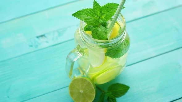 Thumbnail for Refreshing Lemonade on Blue Table