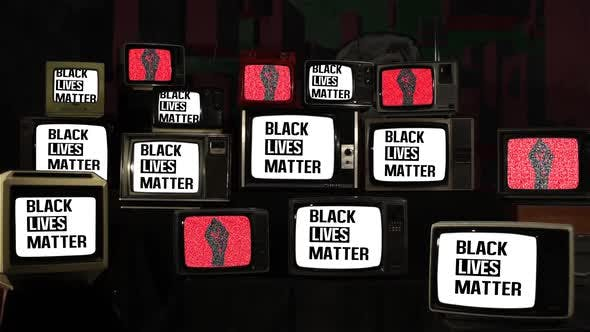 Thumbnail for Black Lives Matter and Retro TV Stack Installation.
