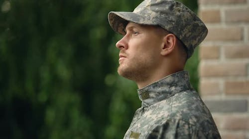 Army Soldier Facing Reality of Duty