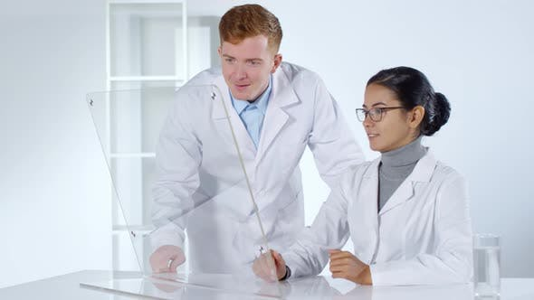 Thumbnail for Two Doctors Using Transparent Multi-Touch Screen