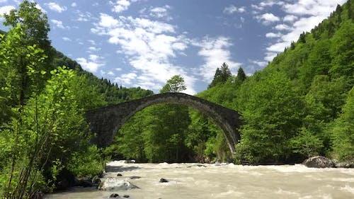 Historical Old Stone Arch Bridge