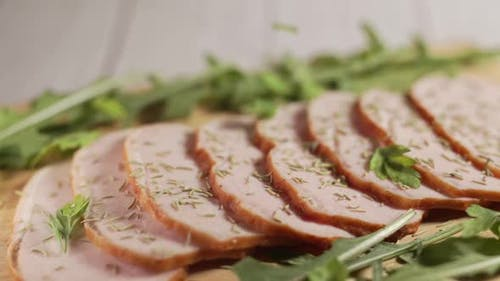 Traditional Ham on a Wooden Cutting Board