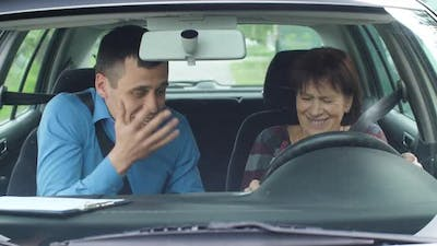 Angry Driving Instructor Yelling at Student