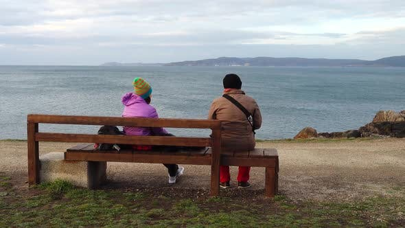 Thumbnail for Menschen Blick auf den Atlantik