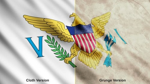United States Virgin Islands Flags