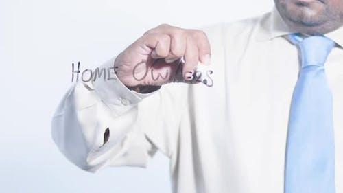 Asian Businessman Writes Home Ownership