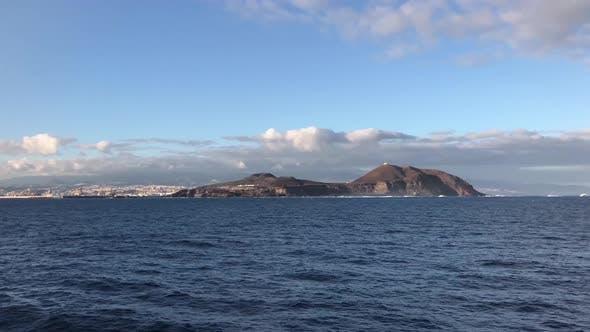 Leaving the island Gran Canaria