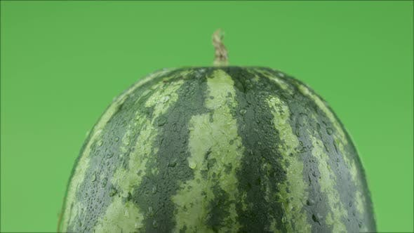 Thumbnail for Fresh Watermelon On Green Background