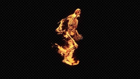 Burning 3D Skeleton Run 2