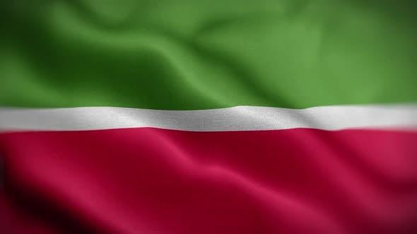 Tatarstan Flag Textured Waving Front Background HD