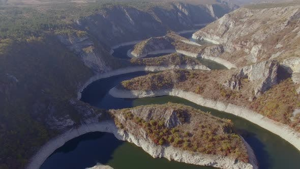 Thumbnail for Aerial Flight Over Uvac Canyon 1