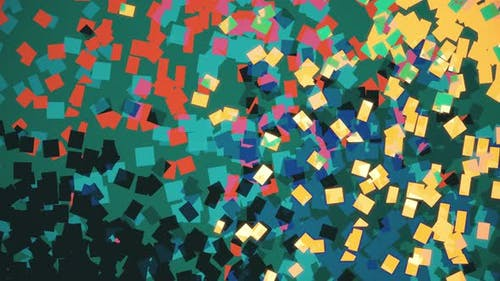 Abstract lo fi Colorful Squares Background Animation. Pointillistic Art Effect.