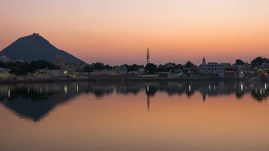 Thumbnail for Sunset time lapse at Pushkar, Rajasthan, India.