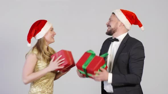 Thumbnail for Happy People Dancing with Christmas Presents