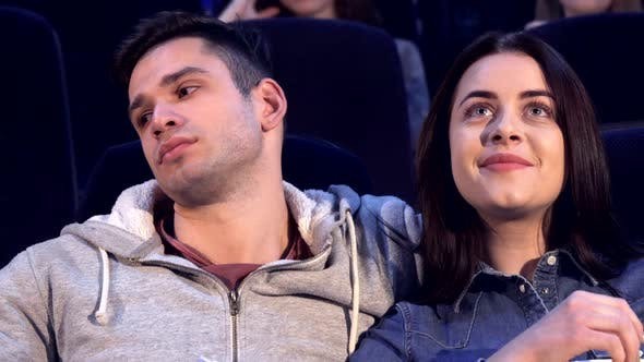 Thumbnail for Couple Watches Movie at the Cinema