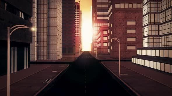 City Sunset Retro