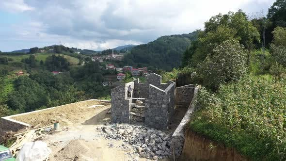 Thumbnail for Trabzon City Village House Construction Aerial View 6
