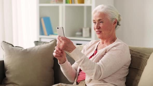 Thumbnail for Old Woman with Smartphone Having Video Chat