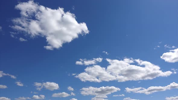 Thumbnail for Cloudscape of Blue Heaven, Time-lapse Atmosphere of Ease and Freedom