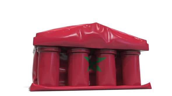 Thumbnail for Deflating Bank or Government Building with Flag of Morocco