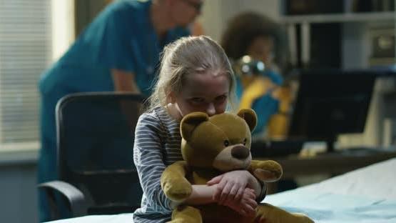 Sad Girl in Hospital