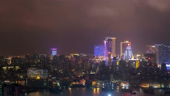 Thumbnail for Macau Peninsula Aerial Cityscape