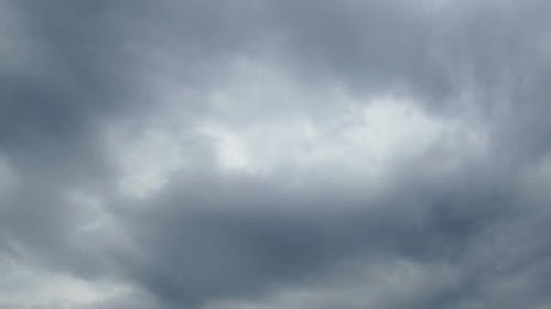 Gray Rain Clouds Are Moving in the Sky, TimeLapse