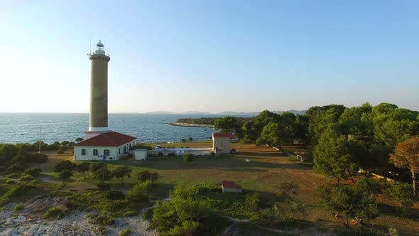 Thumbnail for Aerial view of a lighthouse, Croatia