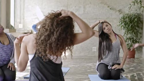 Stretching in Yoga Class