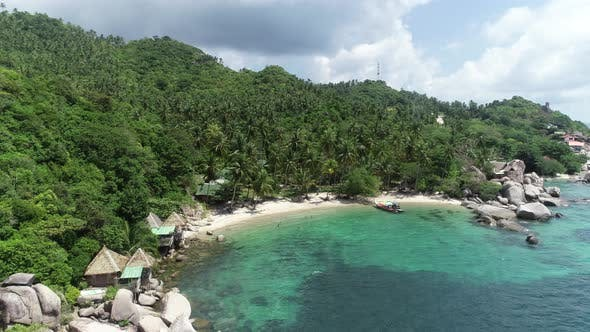 Thumbnail for Aerial view of Tropical lagoon on Koh Tao island