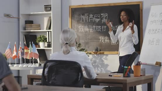 Thumbnail for Teacher Giving Chinese Lesson in a Classroom