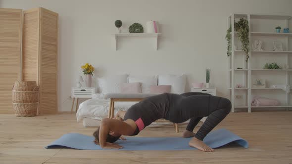 Thumbnail for African American Woman Practicing Yoga Upward Bow