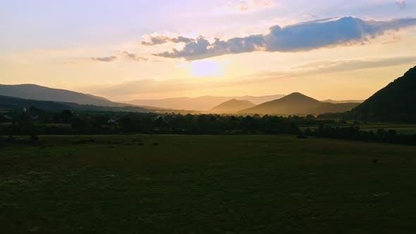 Dawn in Highlands in Spring