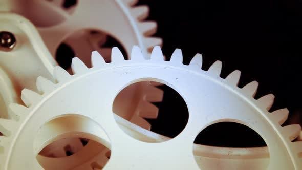 Abstract Retro Clock Gears