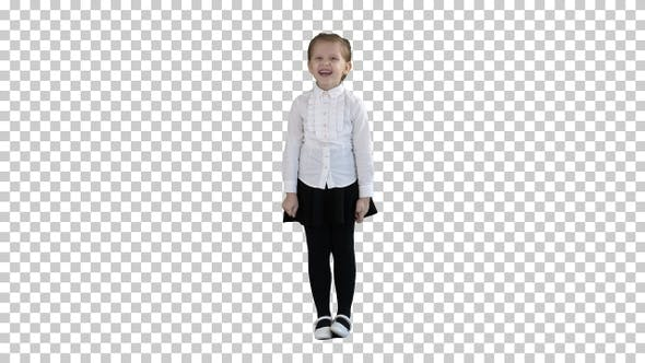 Happy Laughing Child Girl, Alpha Channel