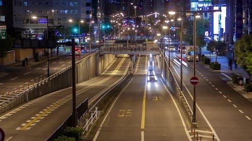 Osaka Motorway Urban Transportation Timelapse