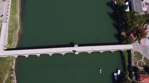 Old Stone Bridge On Drina River Visegrad Bosnia V2