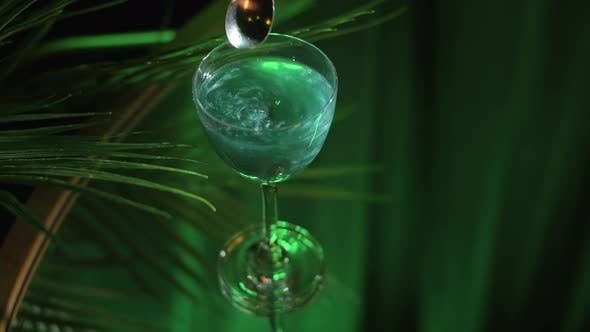 Thumbnail for Close up of Aviva green wine with pearl